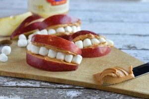 Apple Peanut Butter Teeth