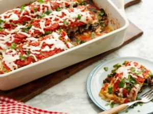 Healthified Kale and Portobello Lasagna